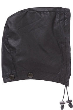Barbour Hood in Black waxed cotton MHO0004BK91