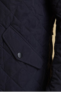 Barbour Shoveler Quilt- Dark NAVY- MQU0784NY91 pocket