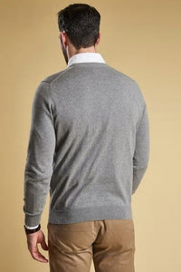 Barbour Sweater-Pima Cotton-Crew Neck-Grey Marl-MKN0932GY51 length