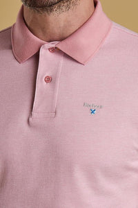 Barbour Polo Sports-Mix-Dusty Pink- MML0628PI14 logo