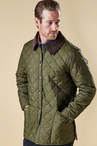 Liddesdale Barbour mens green quilt at Smyths