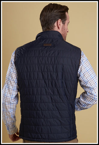 Barbour Explorer Gilet Baffle Quilted in Navy MQU0731NY71