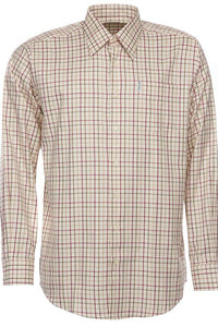 Barbour Shirt-Maud-Comfort Fit-Tattersall Country Check-Red/Khaki-MSH3267RE52 check