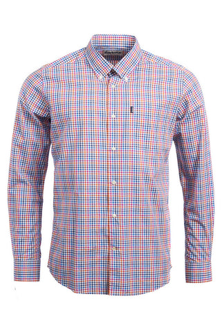 Barbour Stapleton Shirt in Tattersall Orange MSH4257OR32