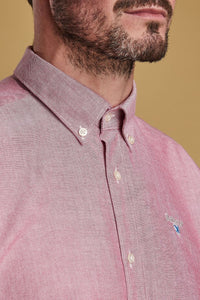 Barbour Shirt-Oxford 3_Tailored Fit-Dusky Pink-MSH4483RE51 collar