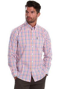 Barbour Shirt-Tattersall15-Tailored Fit-Orange Check-MSH4683OR32
