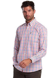 Barbour Shirt-Tattersall15-Tailored Fit-Orange Check-MSH4683OR32 check