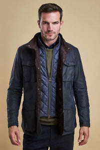 Barbour Ogston-Mens Wax Jacket-Navy-MWX0700NY51
