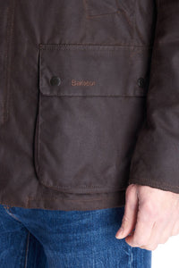 Barbour Brandreth-Wax Jacket-Rustic Brown-MWX1541RU71 pocket