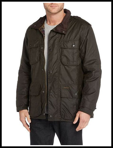 Barbour mens new utility wax jacket bark mwx0827br31