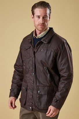 Barbour Bushman Rustic Brown Mens Wax Jacket MWX0725BR71