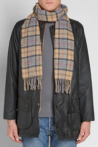 Barbour Tartan Lambswool Scarf - Dress Tartan - USC0001TN31 - Modelled Mens