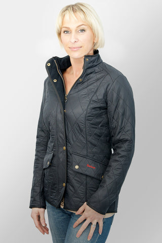 BARBOUR CAVALRY POLARQUILT - NAVY - LQU0087NY91 - Modelled Front View