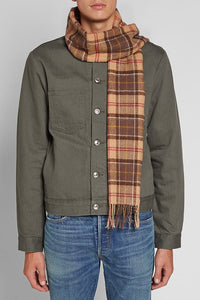 Barbour Tartan Lambswool Scarf - Muted Tartan - USC0001TN91 - Modelled Men
