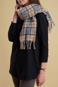 Barbour Tartan Lambswool Scarf - Dress Tartan - USC0001TN31 - Modelled Ladies