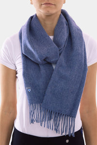 Barbour Scarf Plain Lambswool - Denim Blue - USC0008BL91 - Modelled