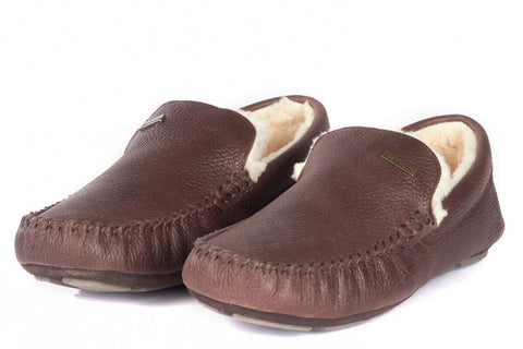 Barbour Monty Slippers in Dark Brown MSL0001BR71