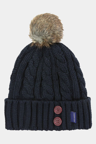 Jack Murphy Blessignton Bobble Hat - Heritage Navy - 026701 - Front Flat