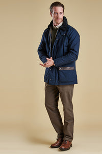 Barbour Linton mens Jacket in Navy MWB0447NY71
