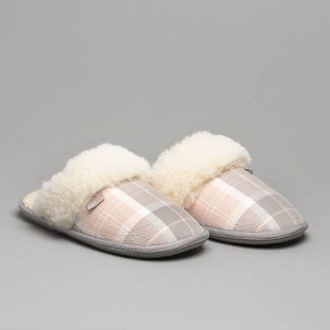 Barbour Lydia Mule Slippers - Pink/Grey - LSL0005PI11 - Pair
