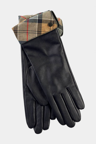 Barbour Ladies Lady Jane Leather Gloves - Black - LGL0005BK11 - Pair View