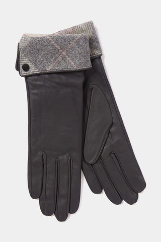 Barbour Ladies Lady Jane Leather Gloves - Grey - LGL0005PI31 - Pair View