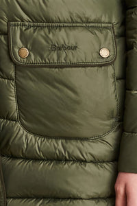 Barbour Ladies Redpoll Quilt Jacket - Olive - LQU0975OL51 - Pocket Detail