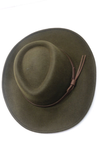 Perth Chrushable Bushman Felt Hat in Olive Green BOST/OL