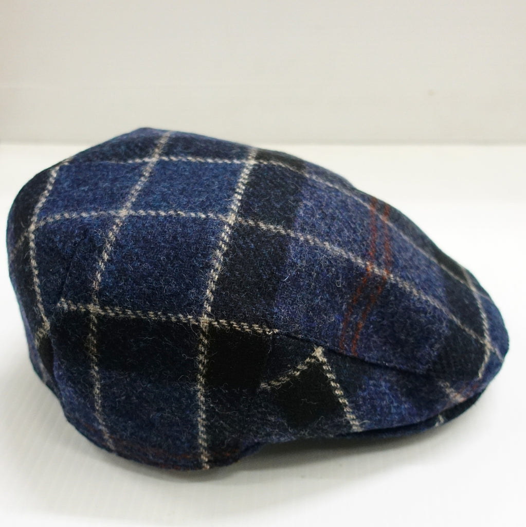 Barbour Cap Moons Tweed Flat Cap Navy - Smyths Country Sports 858b206a378