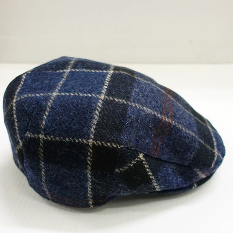 Barbour Cap-Moons Tweed Flat Cap-Navy-MHA0295NY71