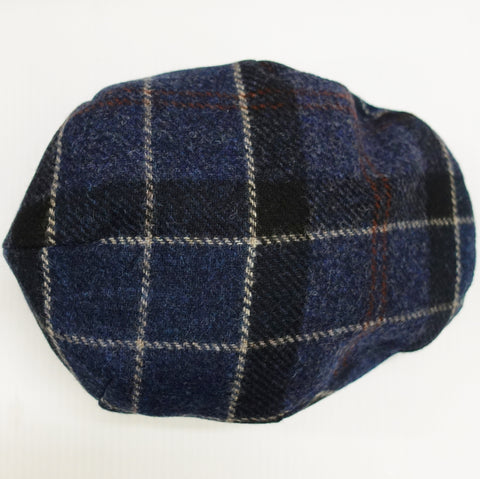 Barbour Cap-Moons Tweed Flat Cap-Navy-MHA0295NY71 top