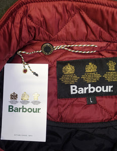 Barbour Chelsea-New Burgundy- Mens Sportsquilt-Jacket-MQU0007RE72 maroon