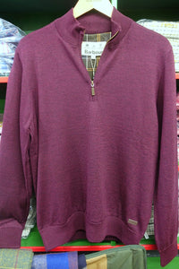 Barbour Gamlin-Jumper-Waterproof lining-Half Zip-Merlot-MKN1213RE94