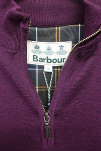 Barbour Gamlin-Jumper-Waterproof lining-Half Zip-Merlot-MKN1213RE94 zip