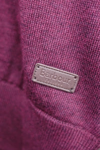 Barbour Gamlin-Jumper-Waterproof lining-Half Zip-Merlot-MKN1213RE94 logo