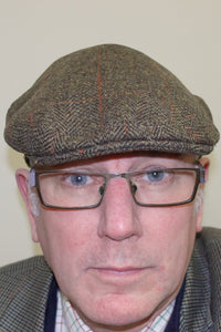 Mens Cap-Tweed Flat Cap-Harewood-Lambswool-Waterproof-HACP GR 2