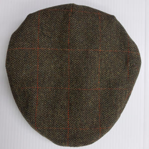 Mens Cap-Tweed Flat Cap-Harewood-Waterproof-HACP GR 2