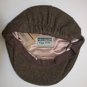 Mens Cap-Tweed Flat Cap-Harewood-Lambswool-Waterproof-Hoggs of Fife