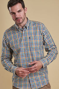 Barbour mens Shirt Bibury in Colour Copper MSH3225OR33