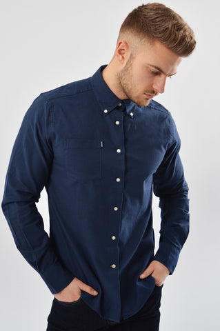 Barbour Shirt Stanley Oxford in NAVY MSH3332NY91