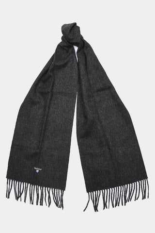 Barbour Scarf Plain Lambswool - Charcoal/Grey - USC0008CH71 - Tied View