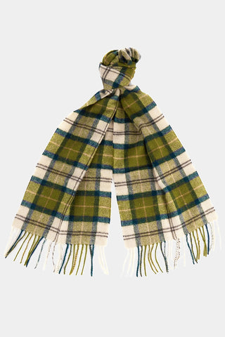 Barbour Tartan Lambswool Scarf - Ancient -Tartan - USC0001TN51 - Tied View