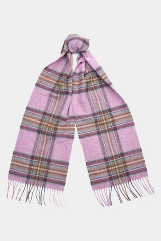Barbour Scarf Abraham Moons Country Check - Pink - LSC0137PI19 - Tied View