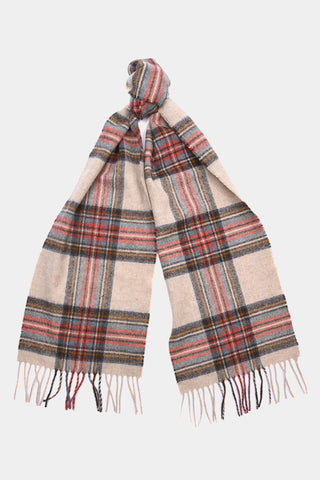 Barbour Scarf Abraham Moons Country Check - Cream - LSC0137CR11 - Tied View