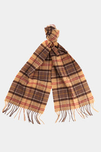 Barbour Tartan Lambswool Scarf - Muted Tartan - USC0001TN911 - Tied View