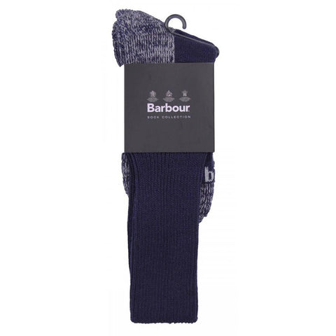 Barbour technical Eiger socks in navy blue wrapped