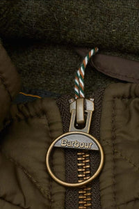 Barbour Ogston Wax Jacket - Olive - MWX0700OL51 - Zip Detail