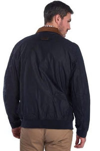 Barbour Clapton-Mens LW Wax jacket-Navy-MWX1632NY51 back