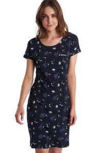 Barbour Dress-Harewood-Country Print-Navy-LDR0303NY74