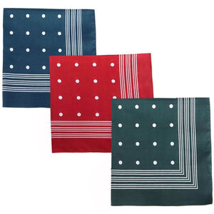 Barbour Handkerchiefs-Polka Spots-Boxed Set of Three Hankies-MAC0008MI11 squares